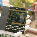 "Le BlackBerry Passport adopte le look ""gold"" 1"